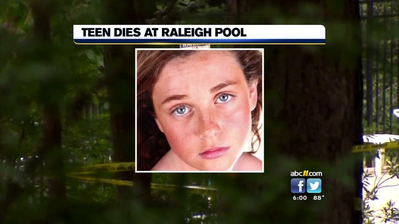 Investigators back on scene in Raleigh where teen died in pool