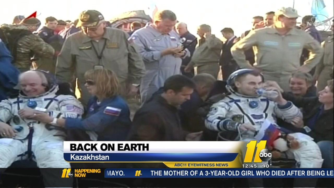 3 astronauts back on Earth
