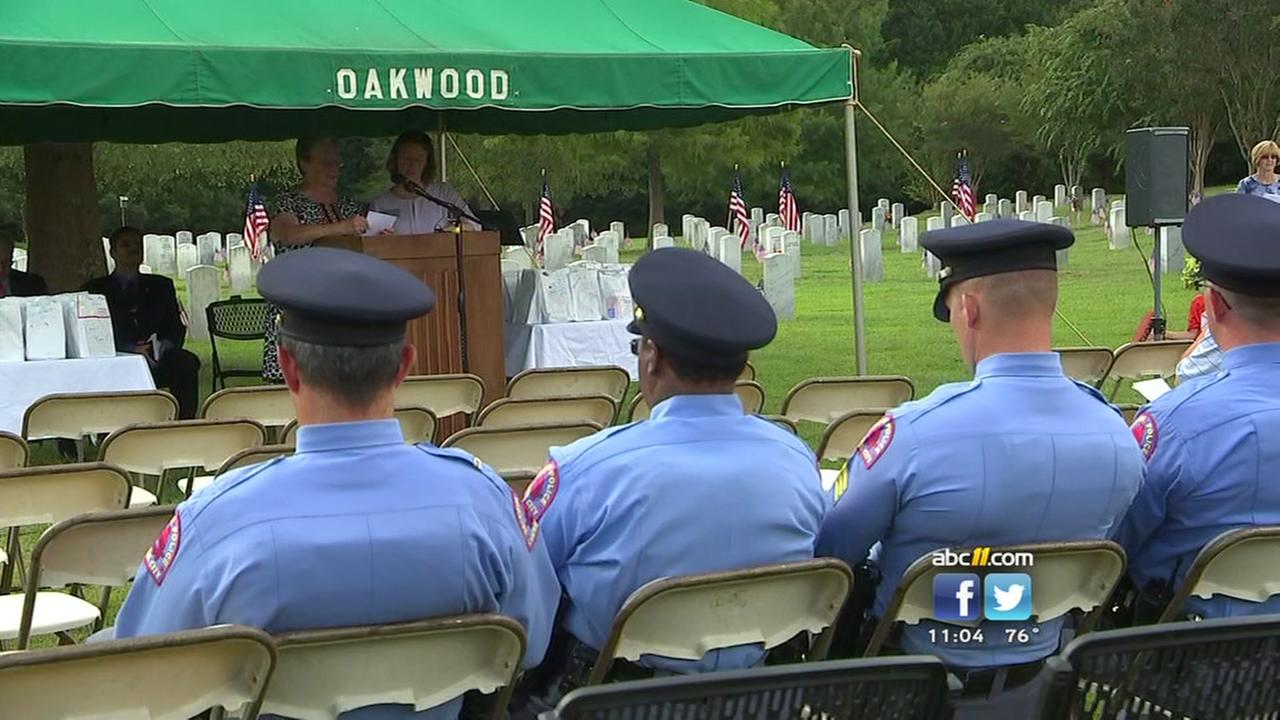 Oakwood Cemetery in Raleigh honors lives lost on 9/11