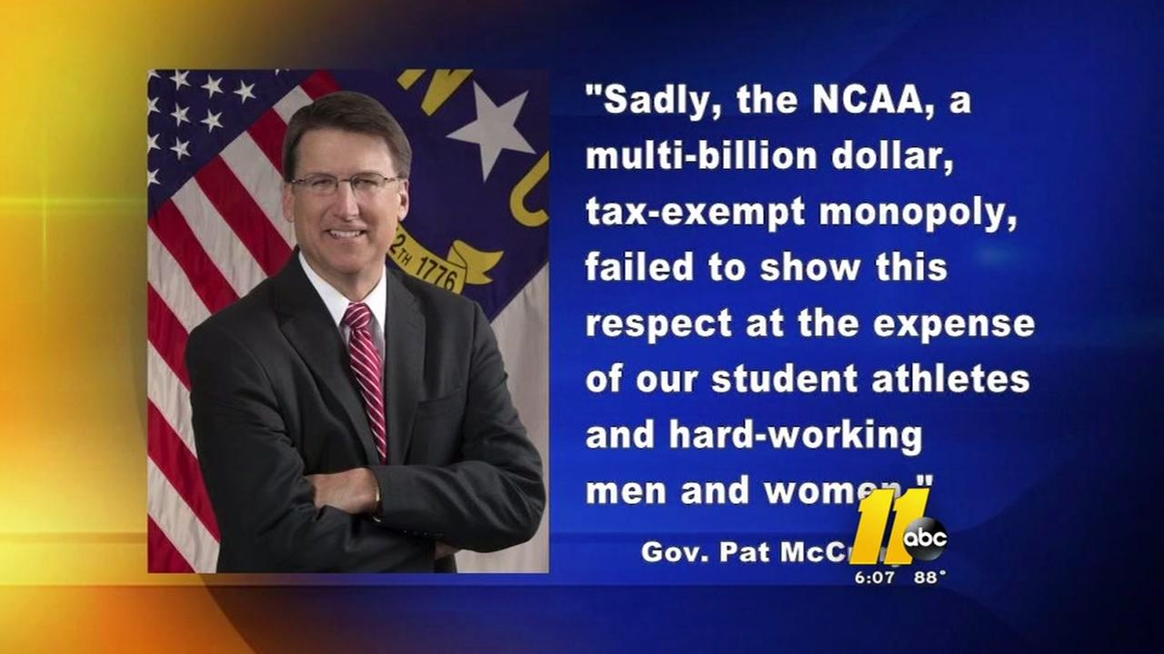 Pat McCrory fires back at NCAA decision