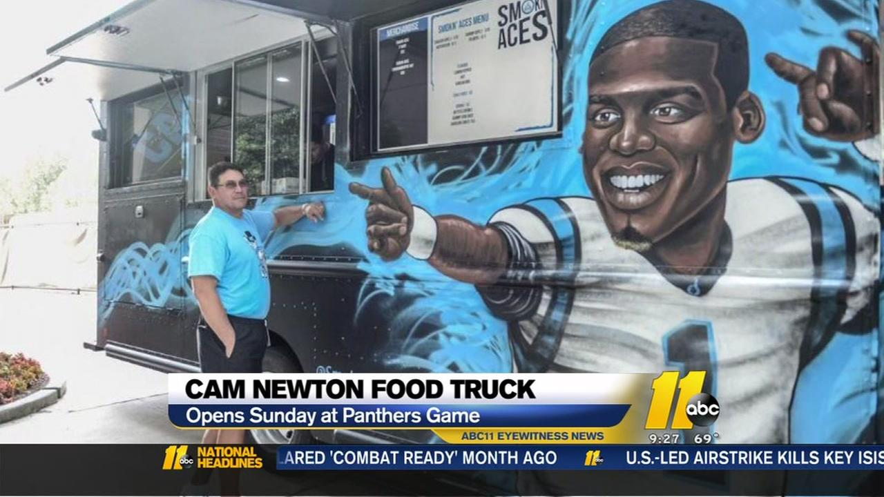 Cam Newton food truck opens Sunday