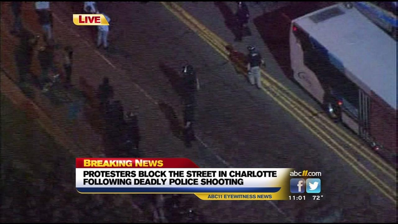 Tense protests in Charlotte