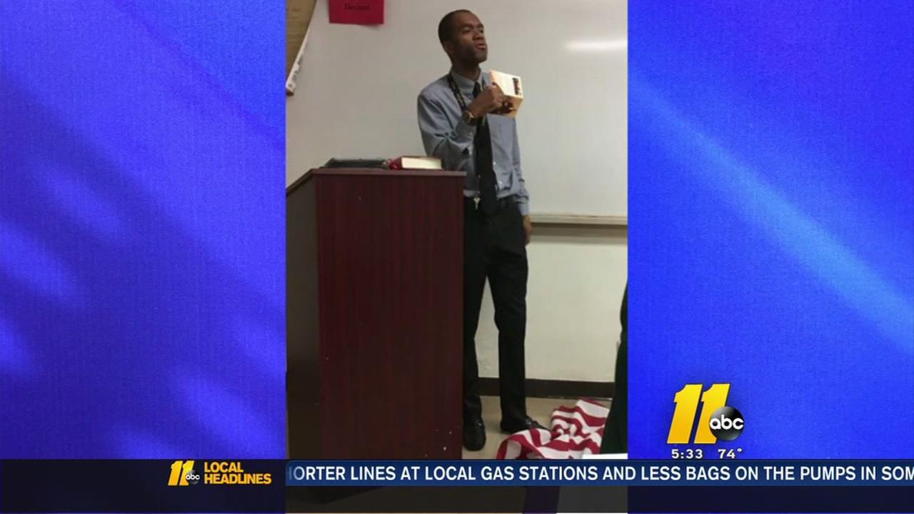 Flag-stomping teacher speaks out