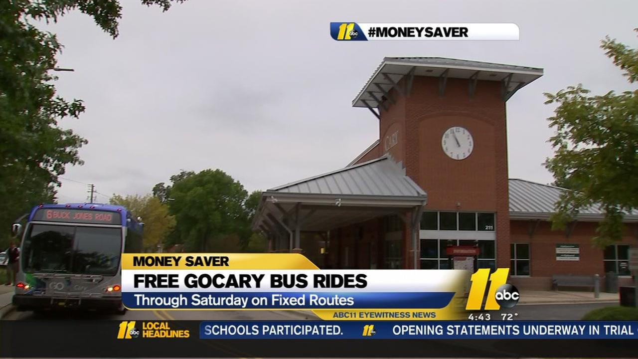 Free bus rides this week in Cary