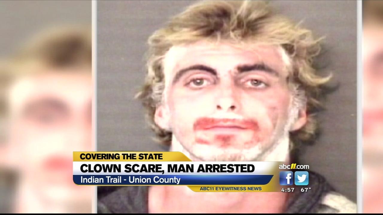 Man arrested after clown scare