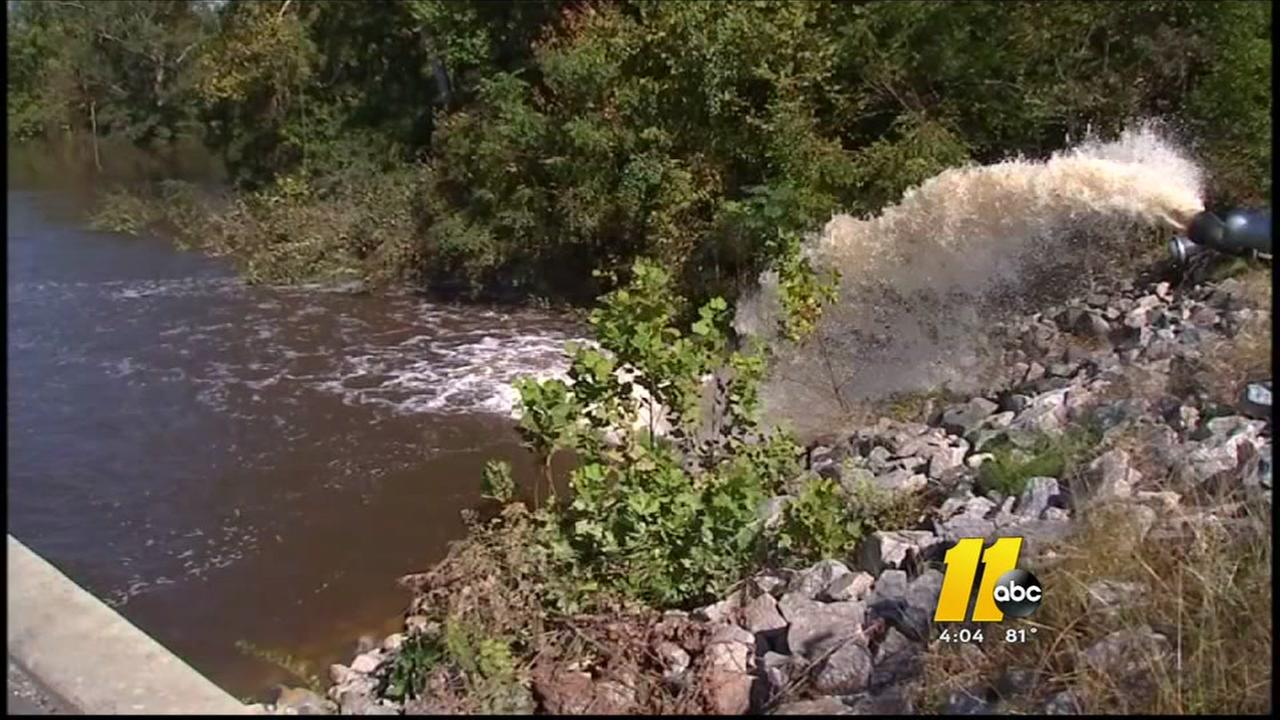 Pumps continue to pump millions of gallons of water from Princeville