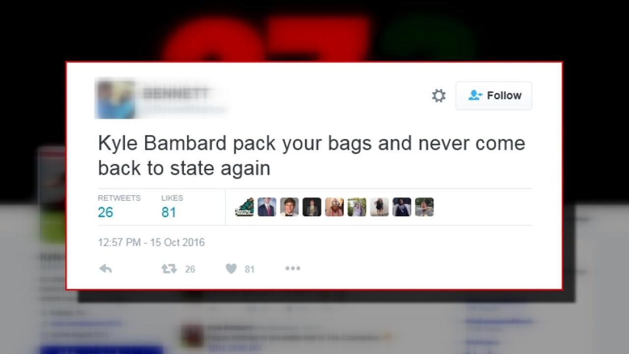 NC State kicker receives threats