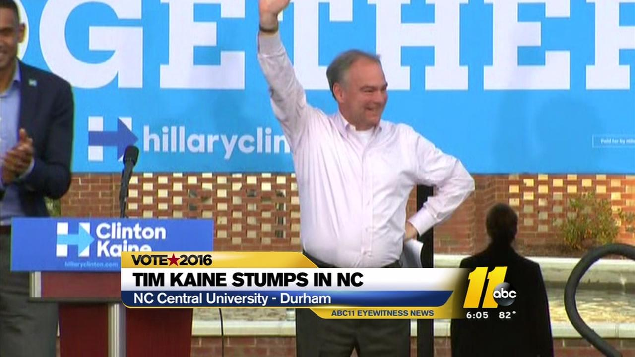 Tim Kaine makes campaign stop in Durham