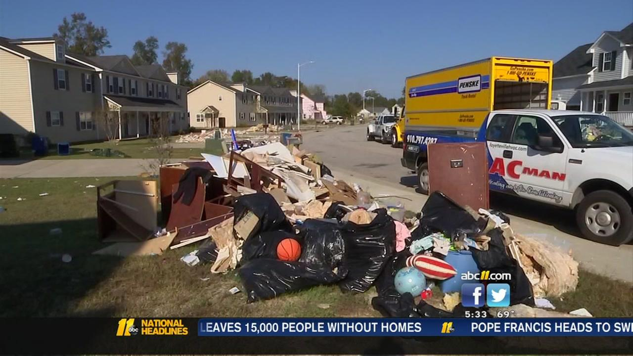 Trash pickup slow after Hurricane Matthew