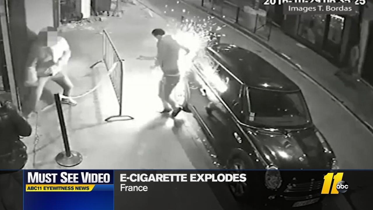 E-Cigarette explodes in mans pocket