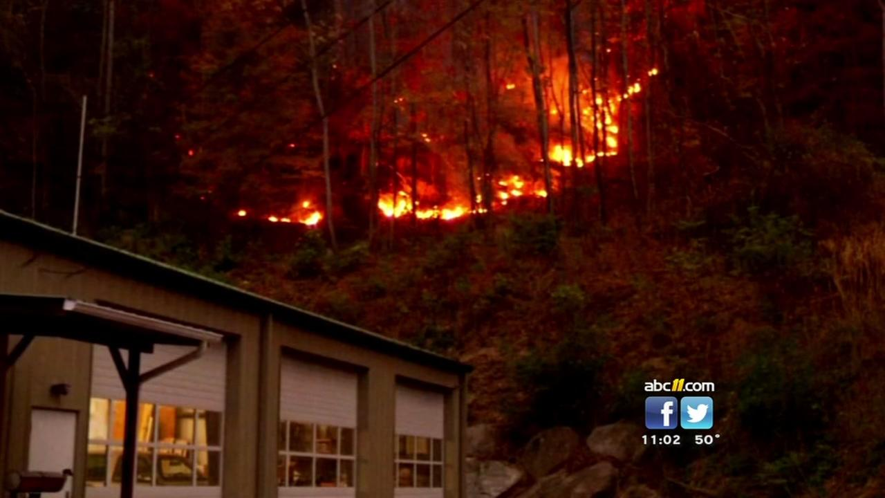 Wildfires continue in western NC