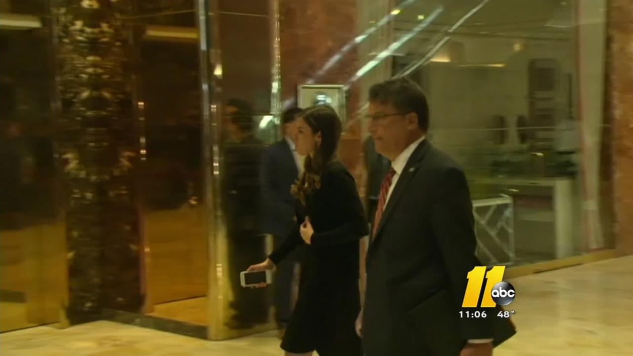 Gov. Pat McCrory meets with President-elect Donald Trump