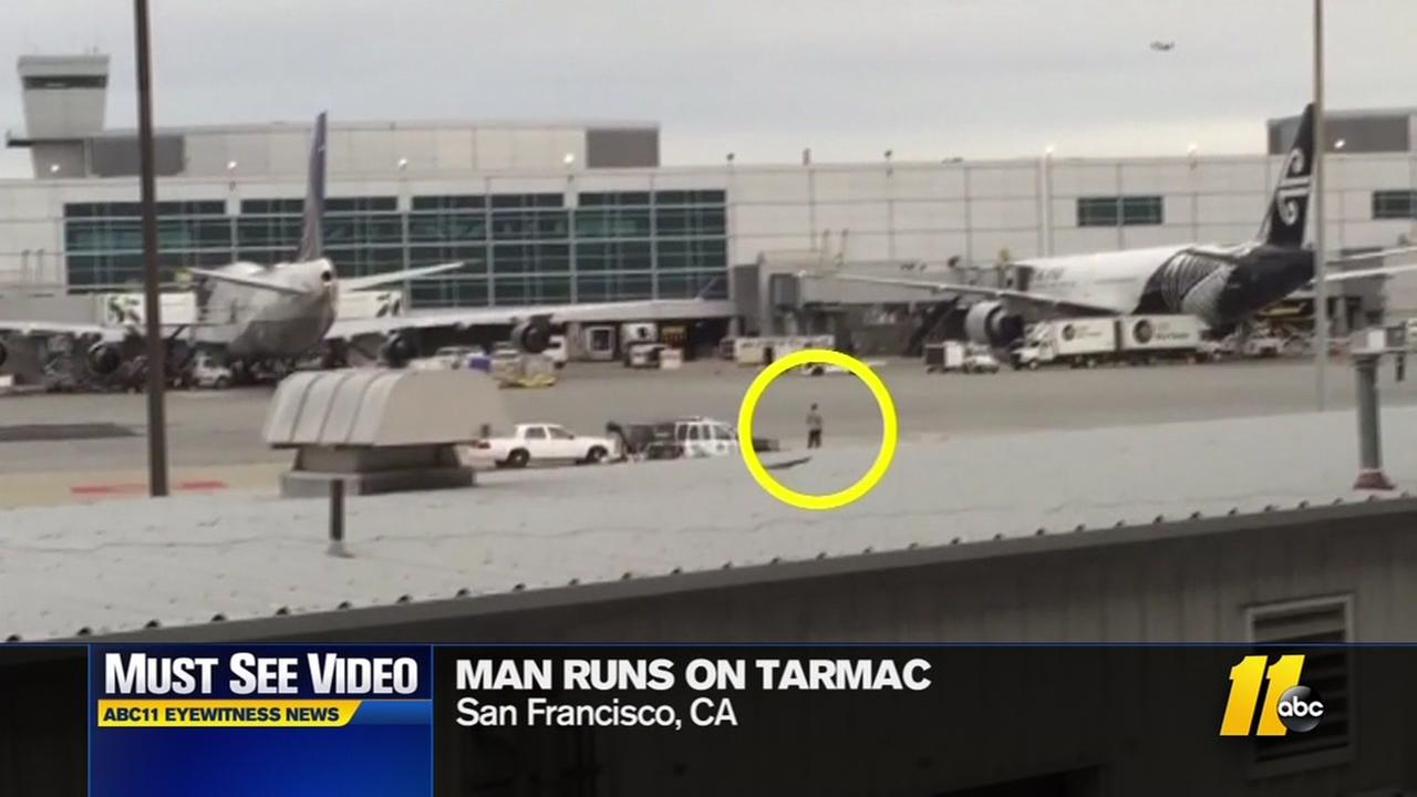 Man runs on Tarmac
