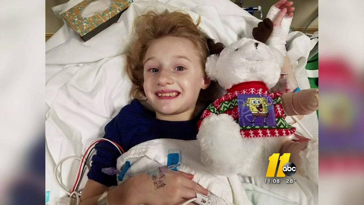 Schoolgirl hit by a truck is still smiling