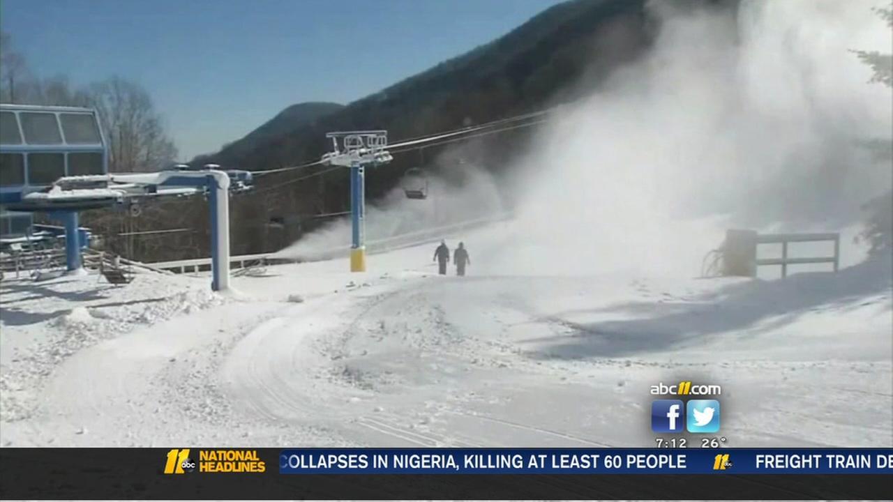 ski resorts in western north carolina prepare in frigid temps