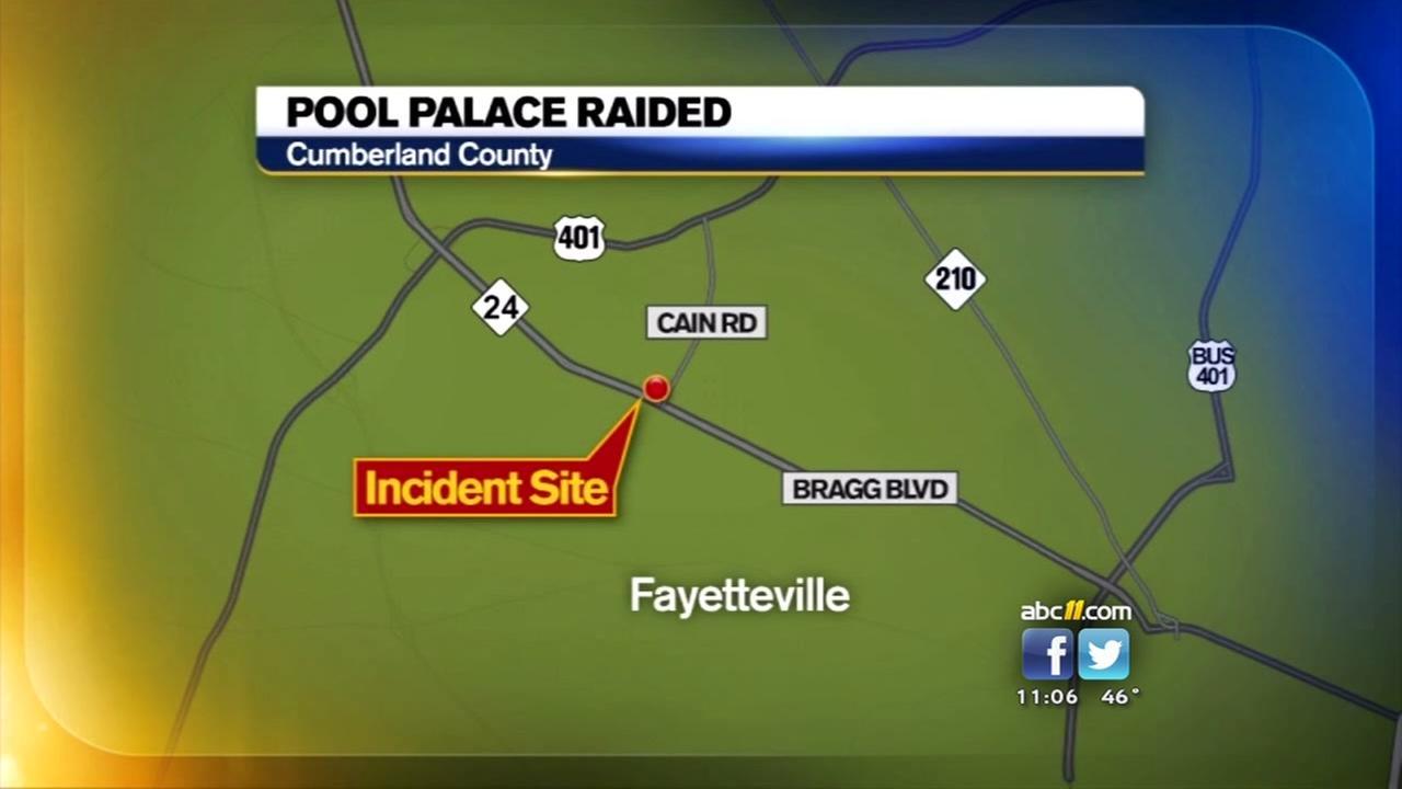 Drugs, gun found at raid of illegal Fayetteville club