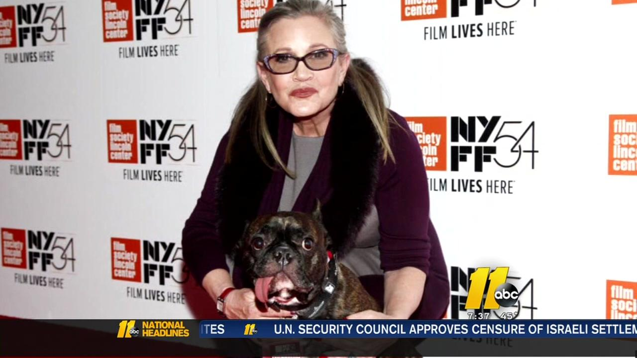 Carrie Fisher hospitalized