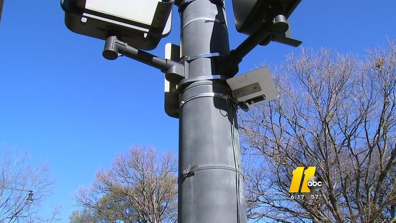 Camera set up to monitor Raleigh intersection
