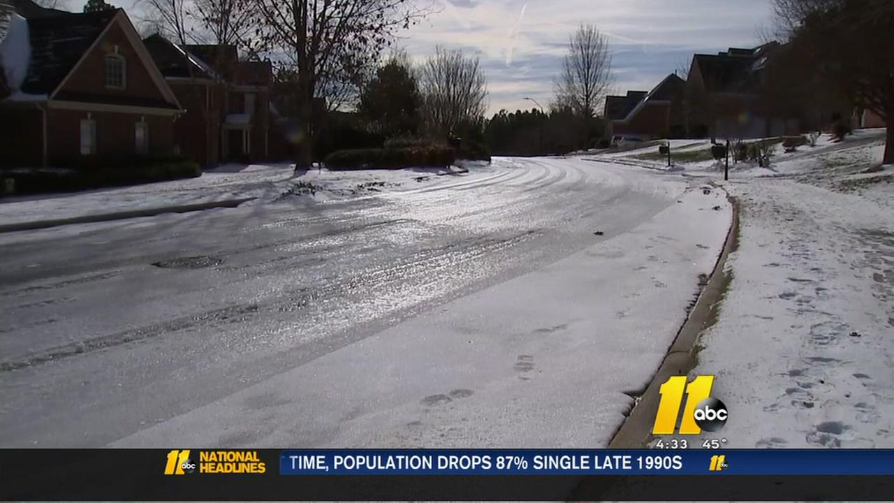 Schools stay closed as roads remain icy