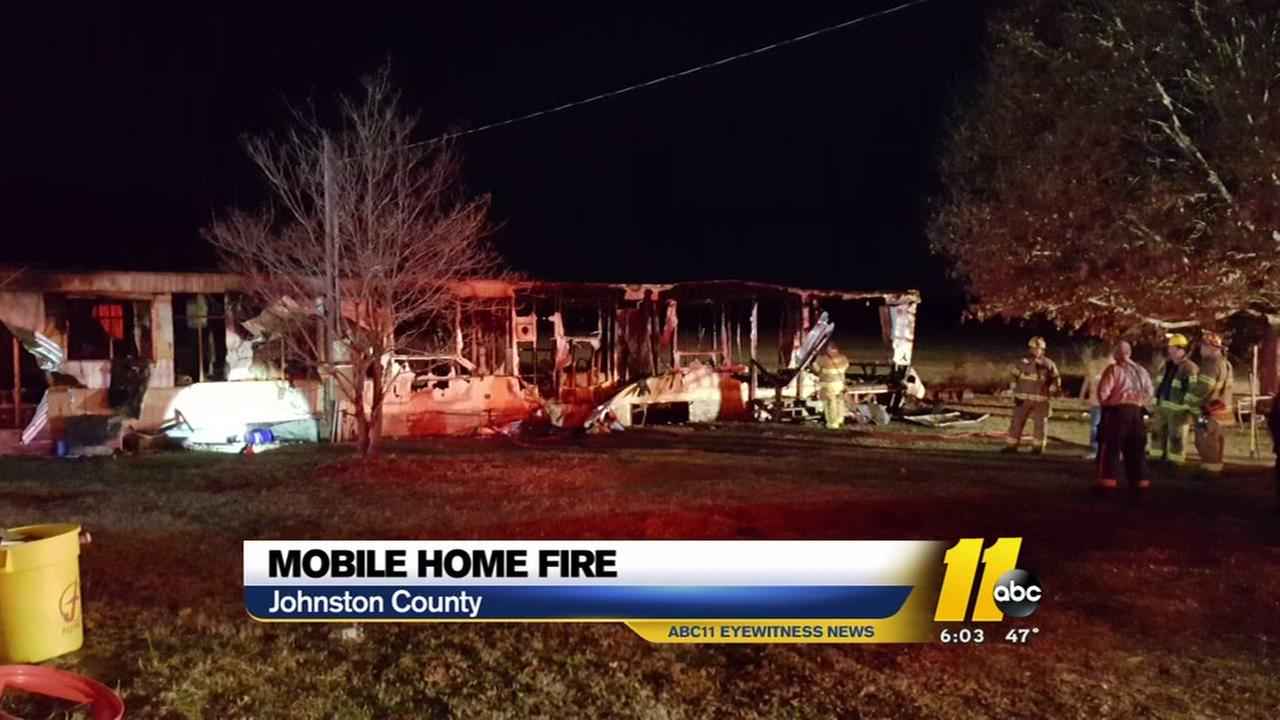 Two dogs die in Johnston County mobile home fire