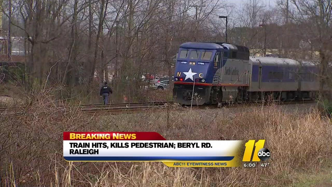 Amtrak train hits and kills pedestrian in Raleigh