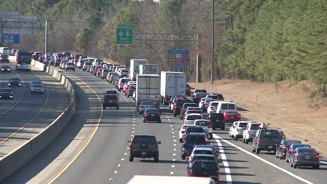 I-40 west blocked in Durham County