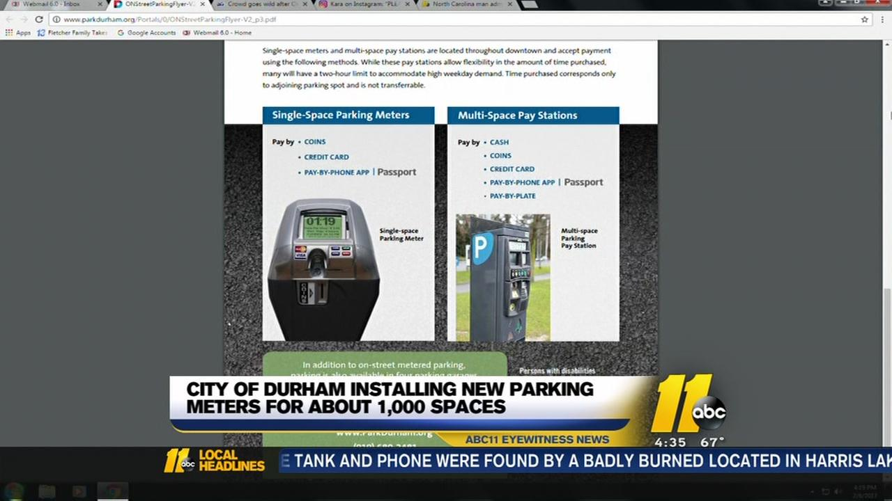 Durham to install new parking meters downtown
