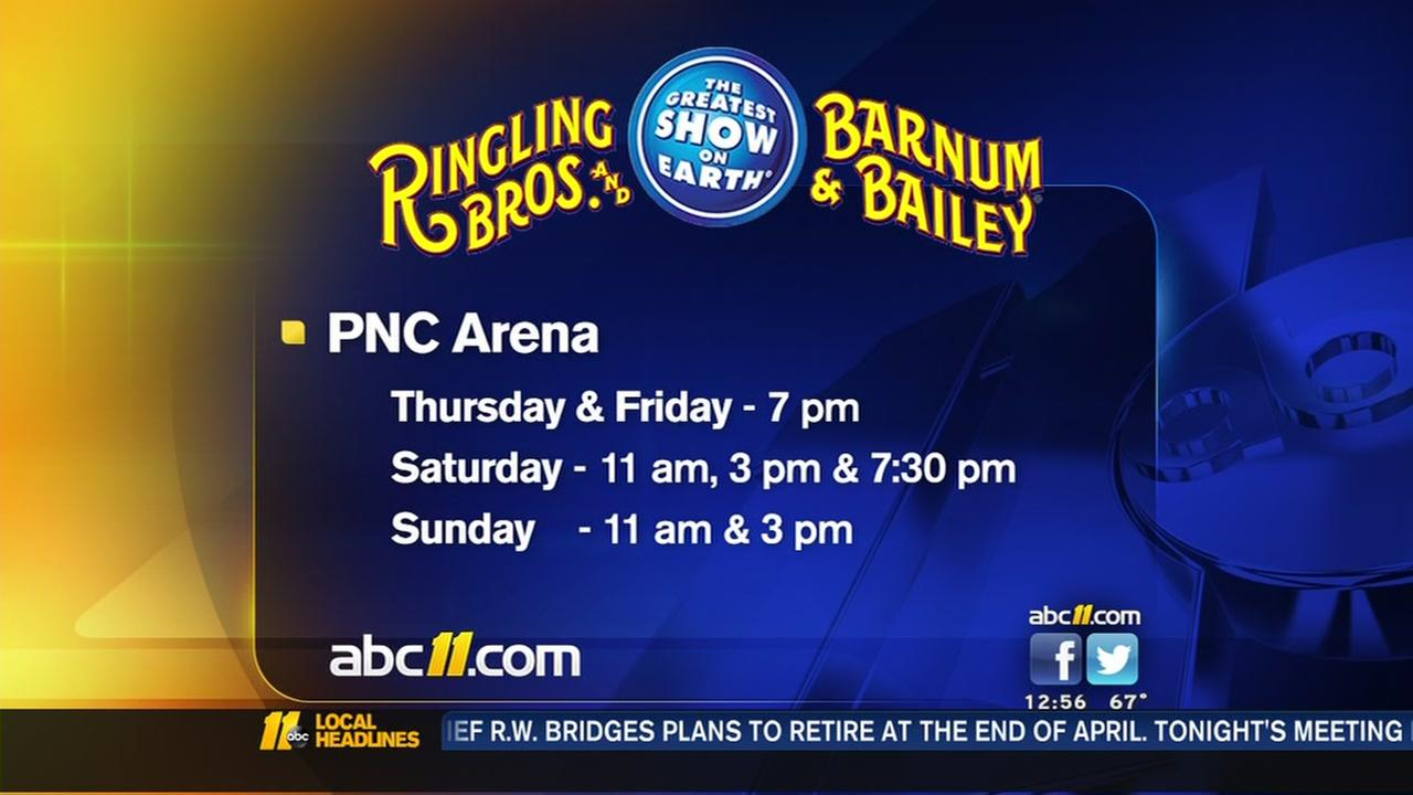 Circus coming to Raleigh for the last time