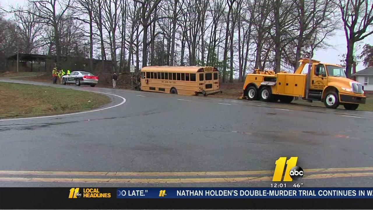 12 hurt in school bus crash