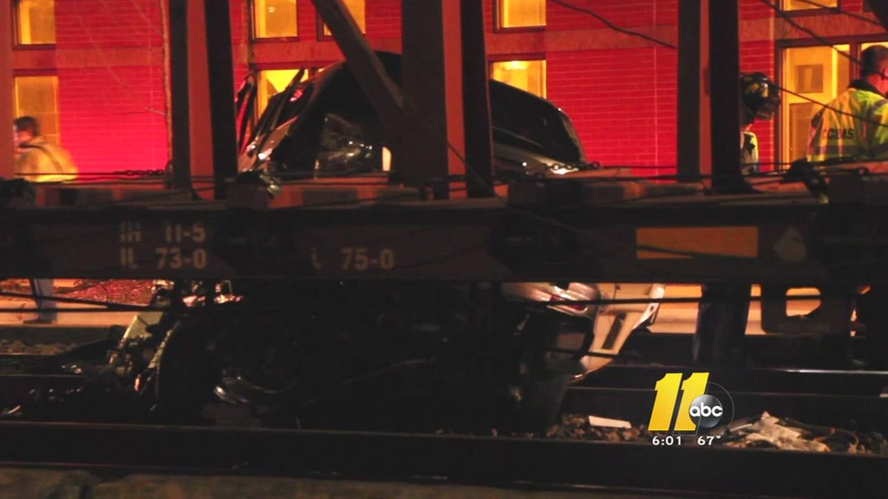 1 dead after train hits SUV in Fayetteville