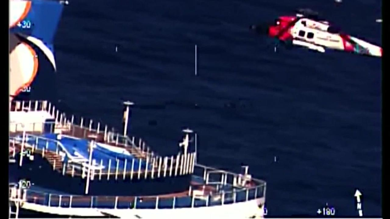 Woman plucked from ship off NC coast