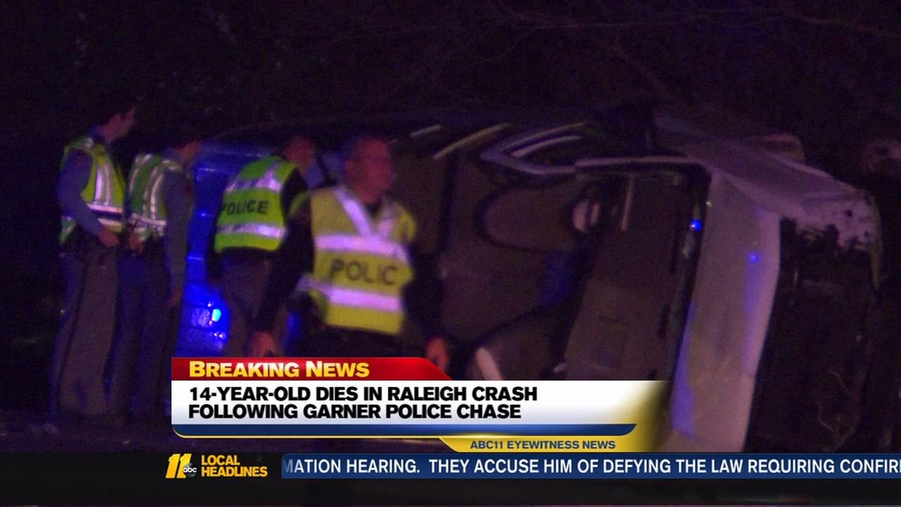 14-year-old dies in Raleigh crash following Garner police chase