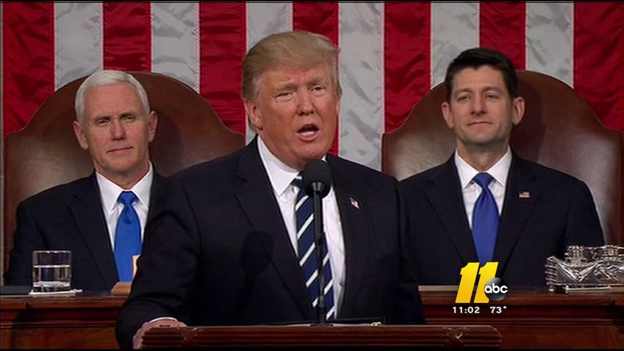 President Trump delivers first joint speech to Congress