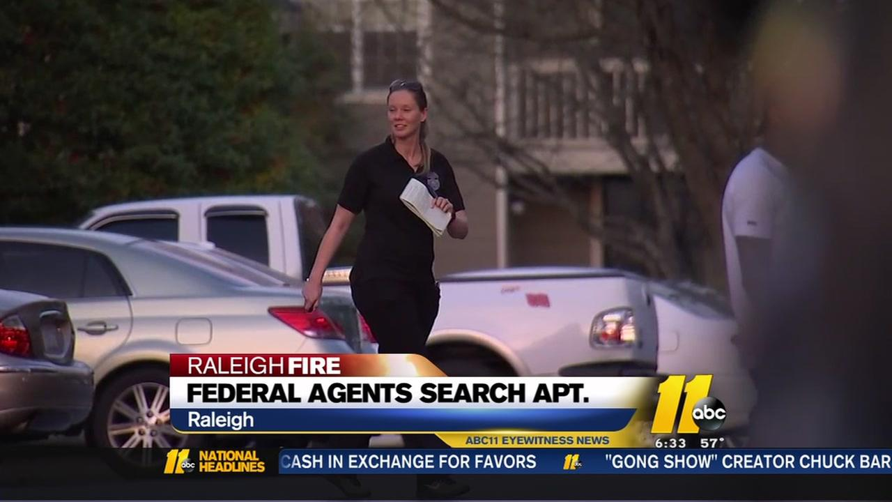 Sources: ATF agents searching Raleigh apartment in connection with downtown Raleigh fire