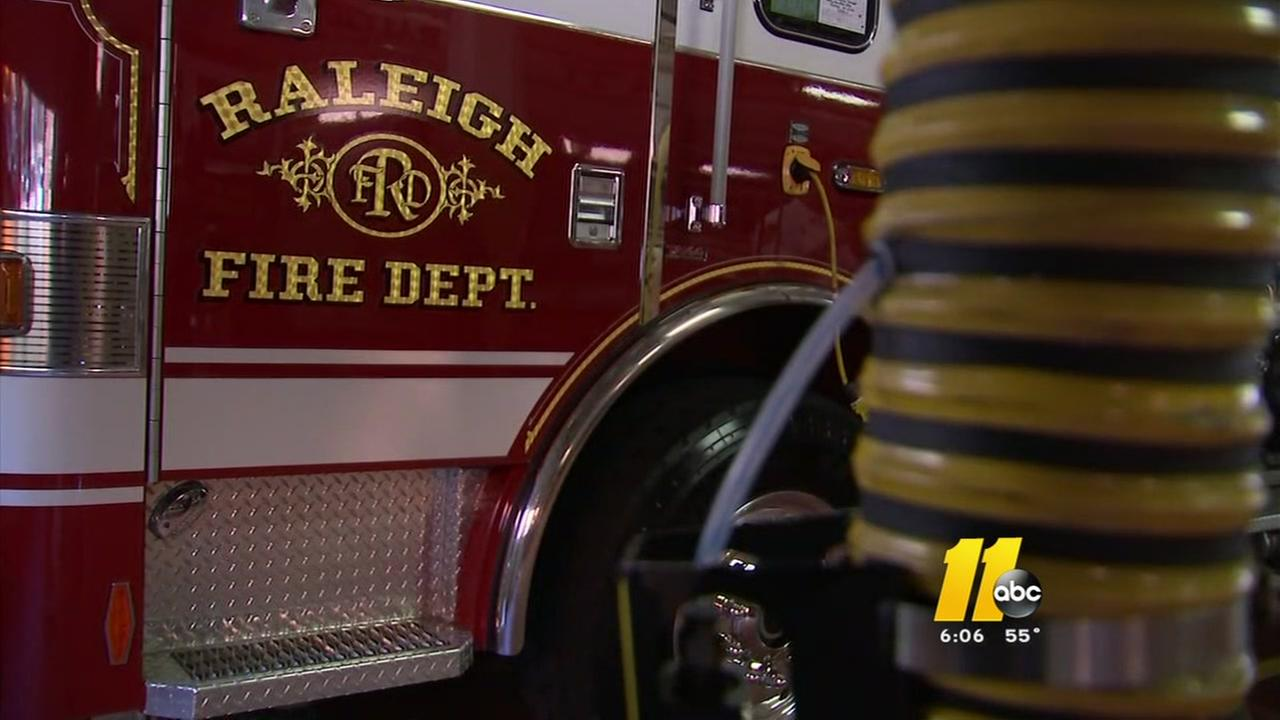 Raleigh firefighters honored after downtown blaze