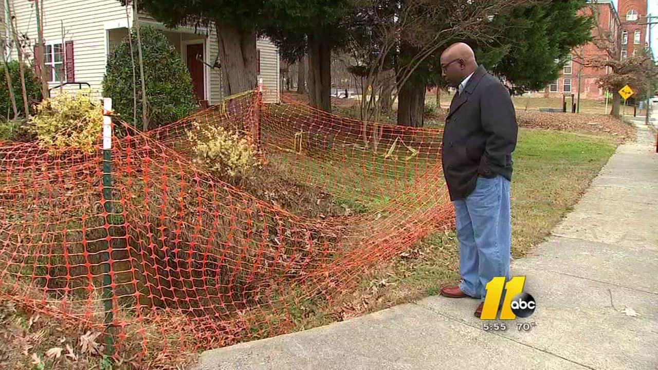 Durham neighborhood concerned about sinkhole