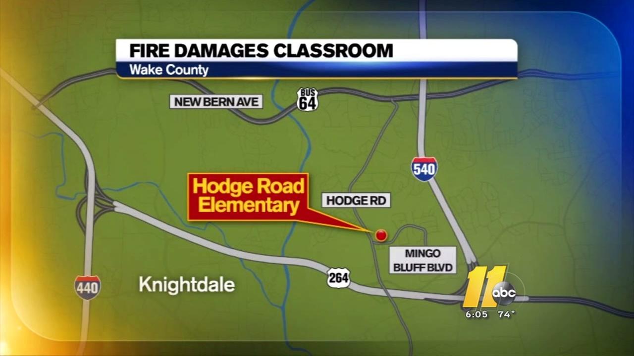 Fire crews investigate fire at Knightdale school