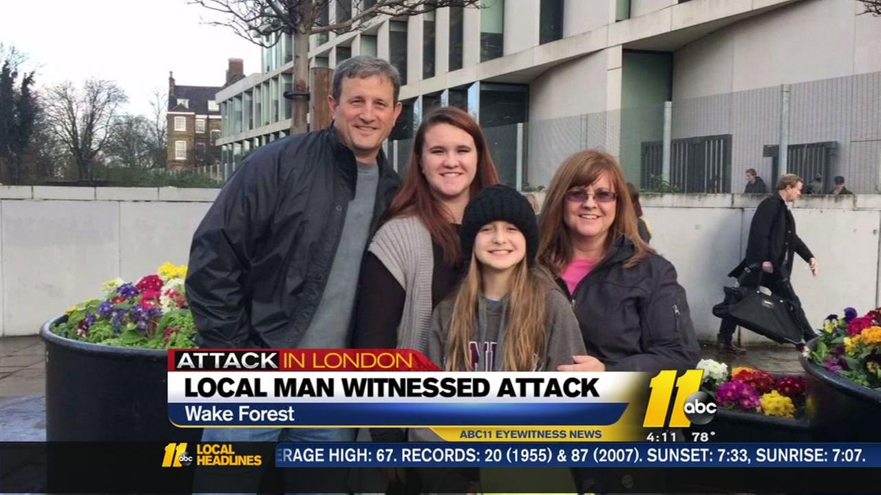 Wake Forest man witnessed London attack