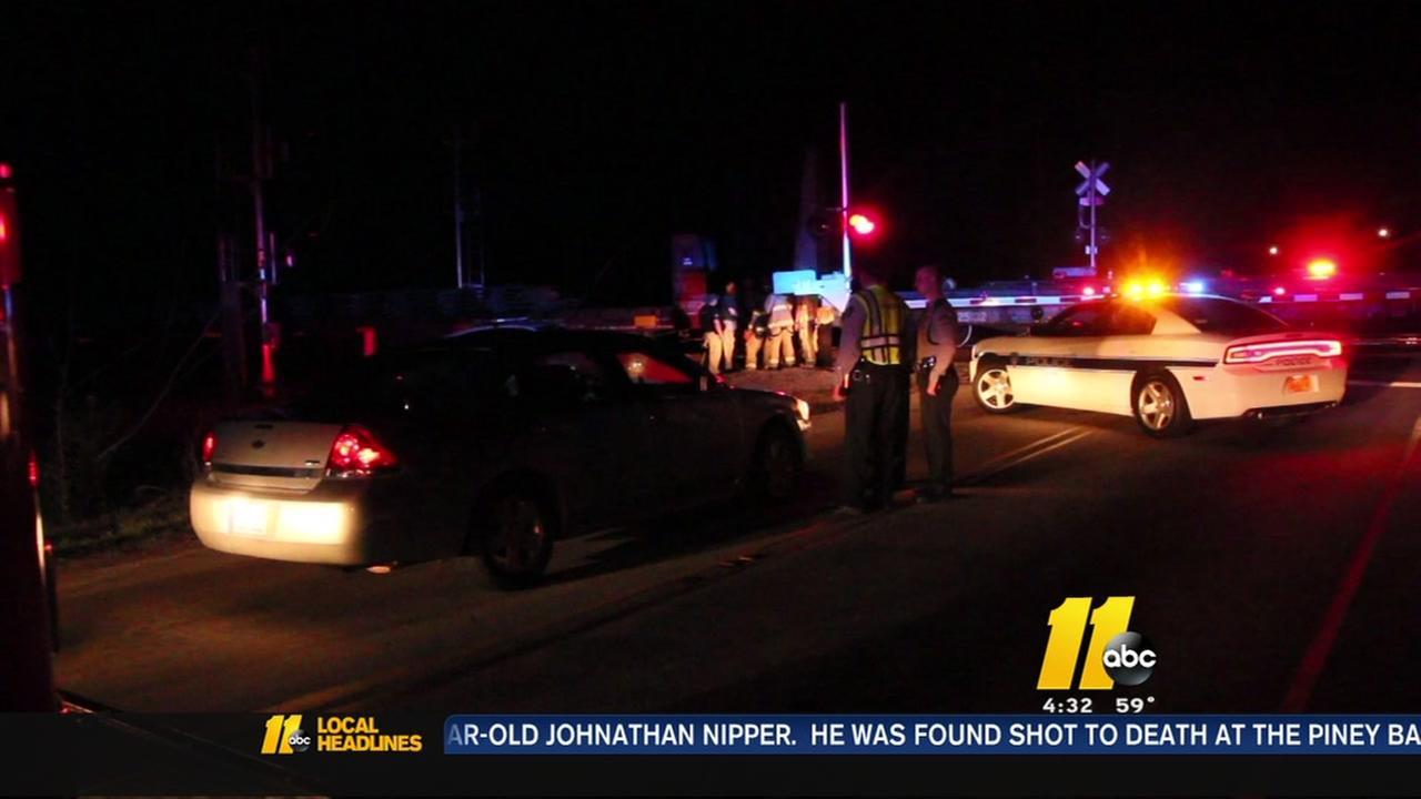 Train hits car in Harnett County