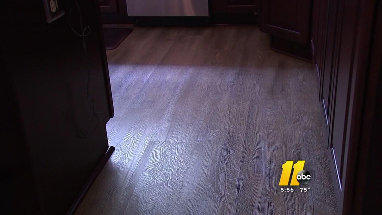 Damage to new purchase floors homeowner
