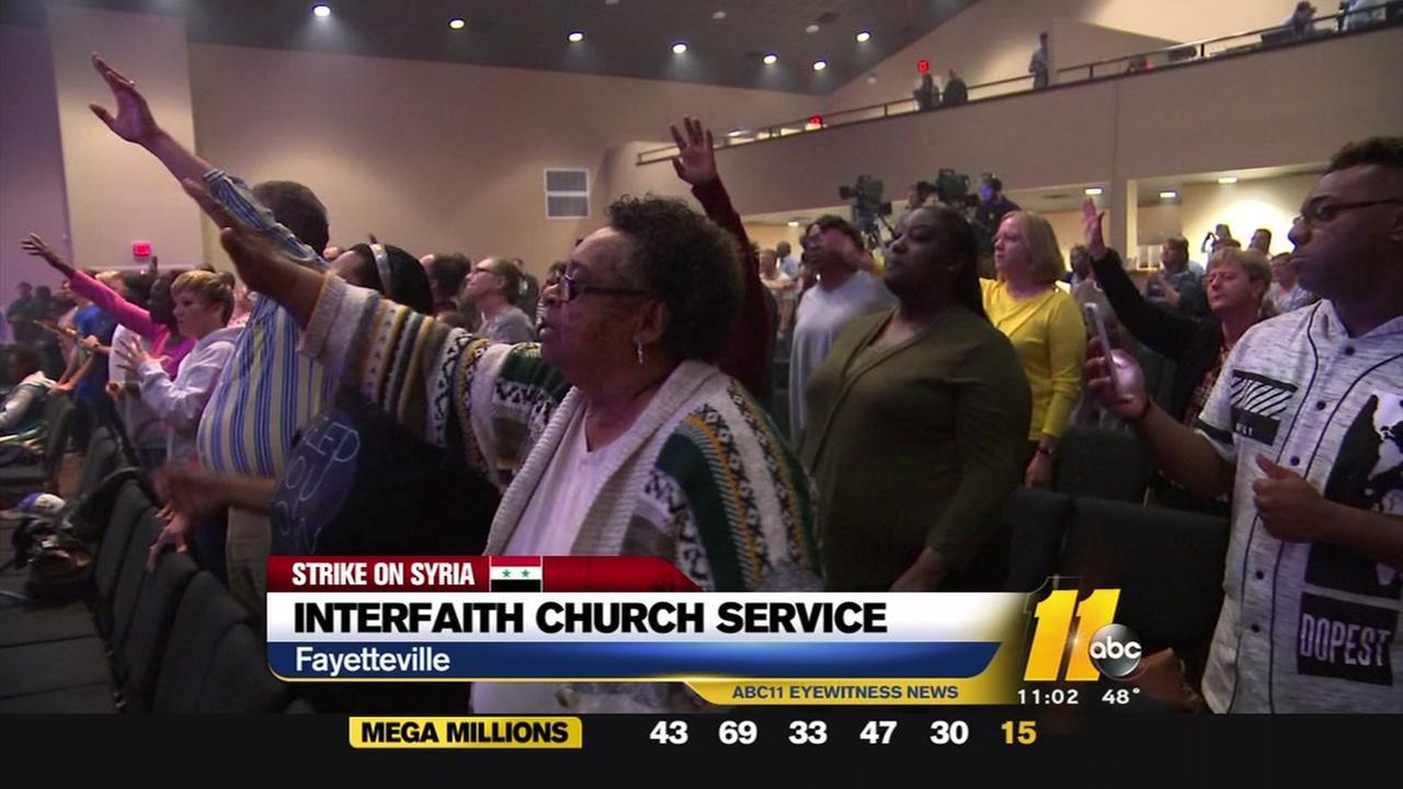 Interfaith church service in Fayetteville