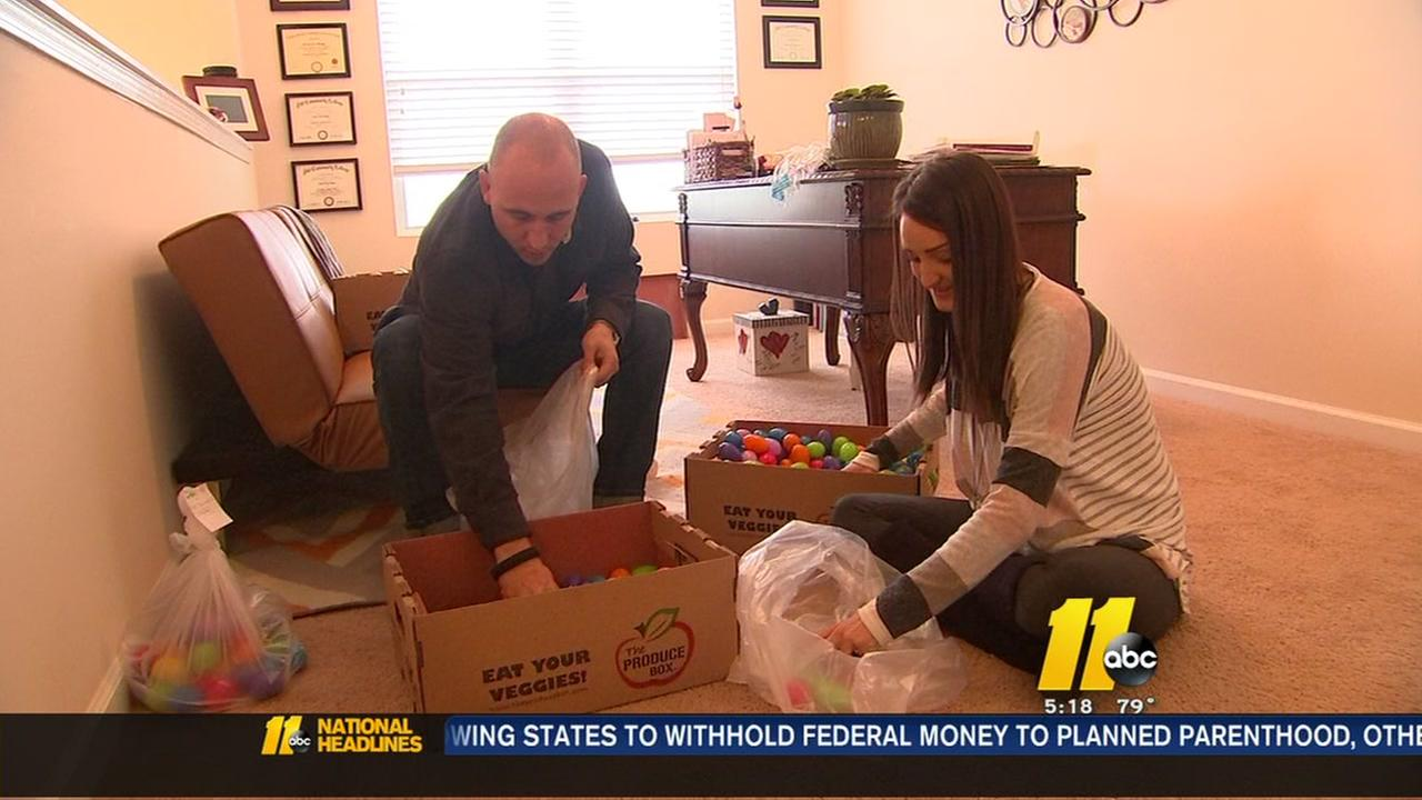 Raleigh couple hopes Easter egg hunt will lead to baby