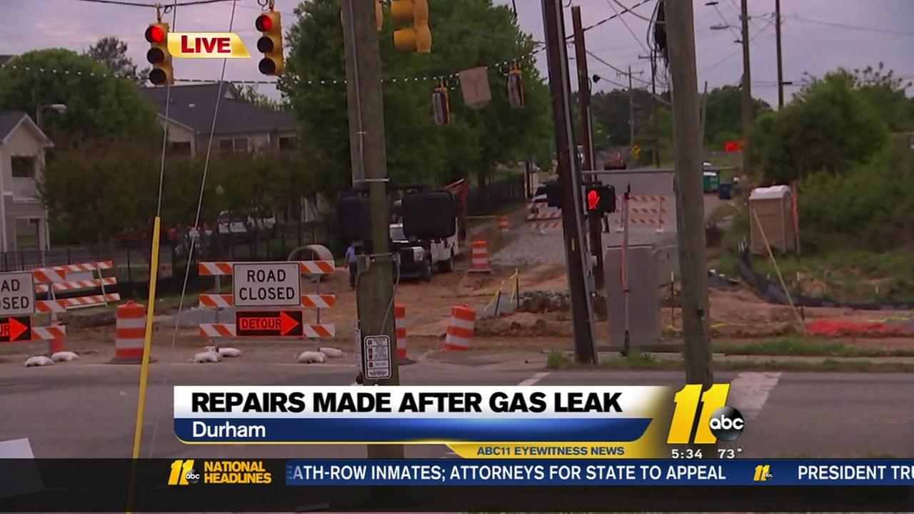Repairs made after gas leak