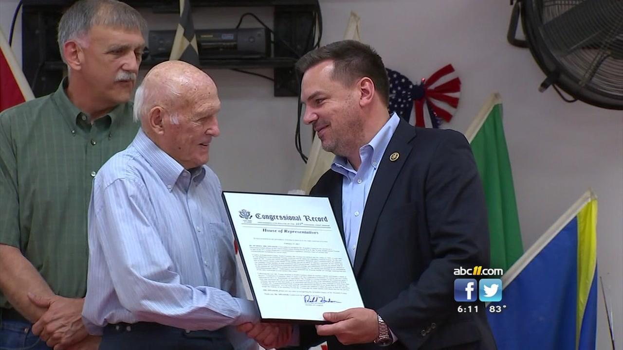 World War II veteran gets surprise ceremony