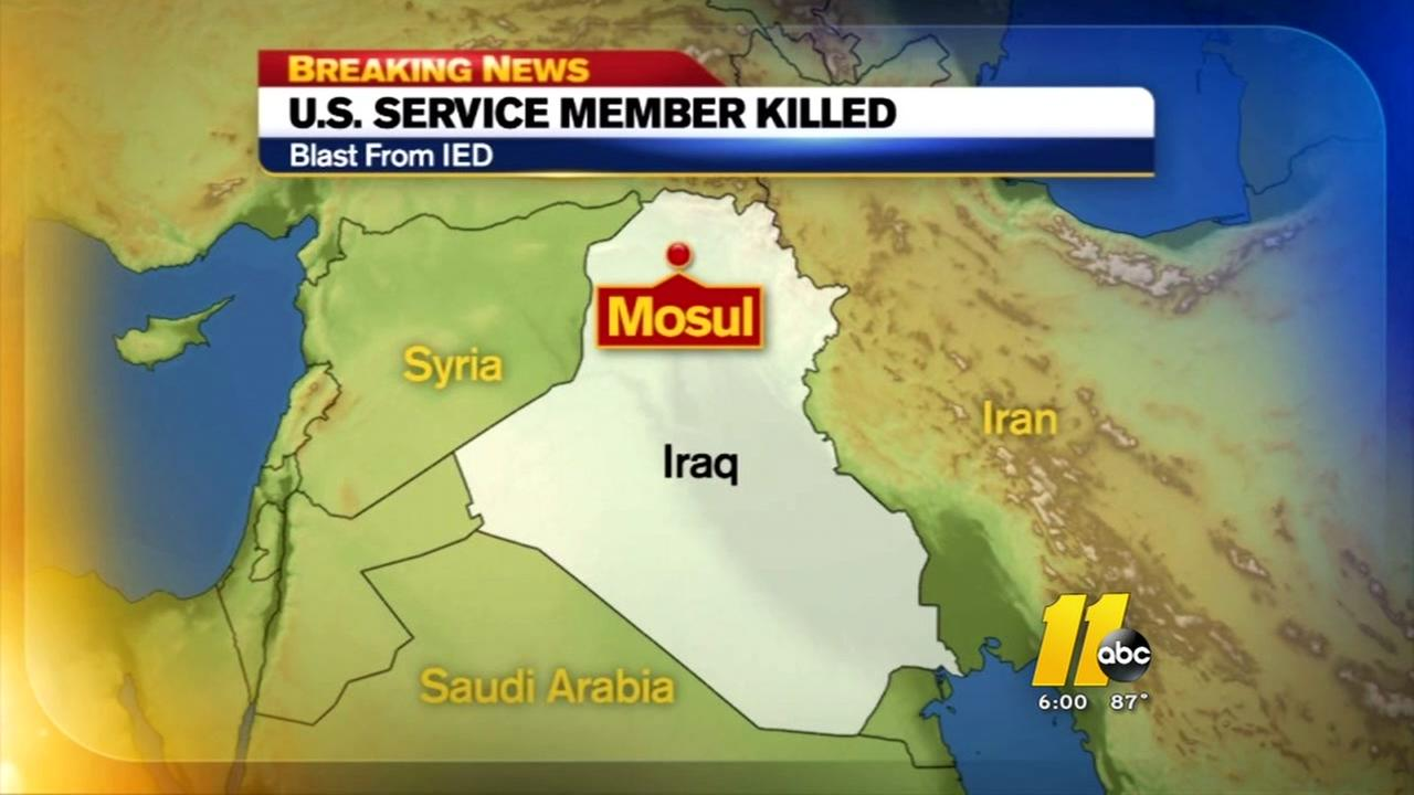 U.S. service member dies after an explosion in Iraq