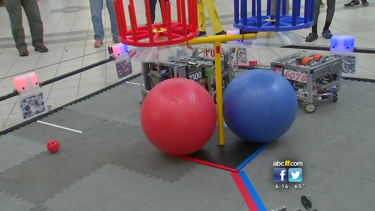 Students display robots at Durham invitational