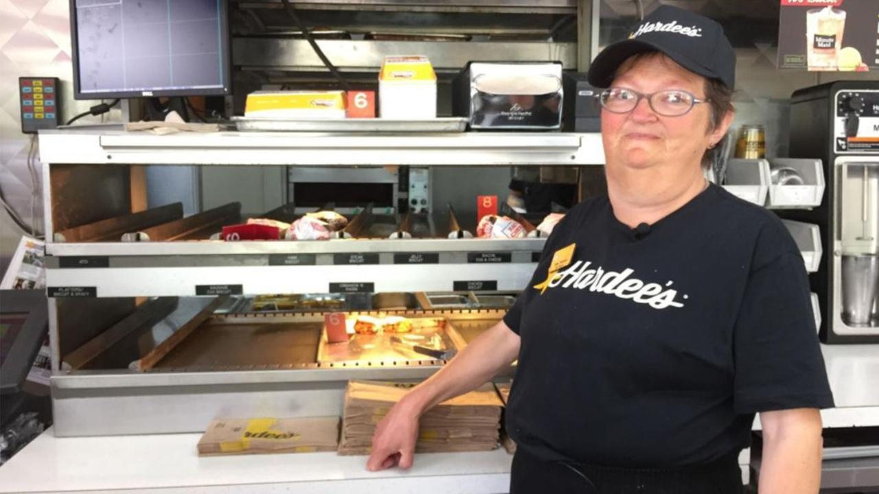 Emma Peterson has worked at Hardees in Burnsville for 25 years