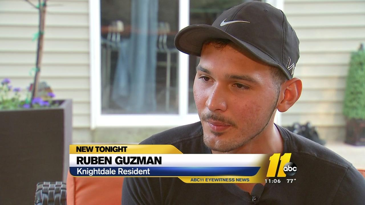 Knightdale man describes frightful ordeal