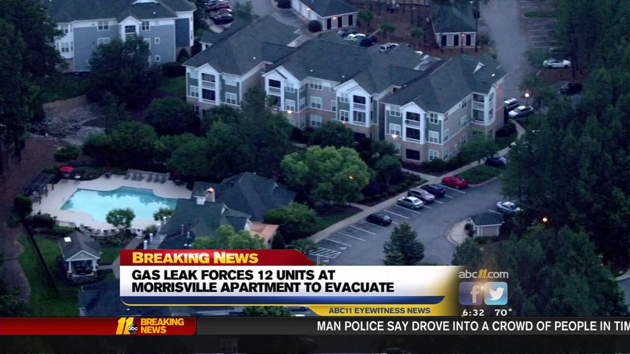 Gas leak forces out residents at Morrisville apartments