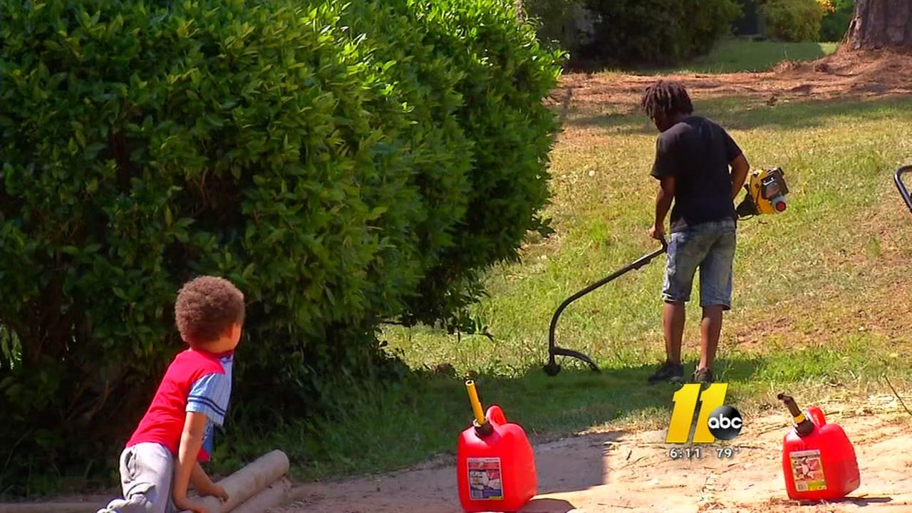 NC lawn care company surprises boy with own mower